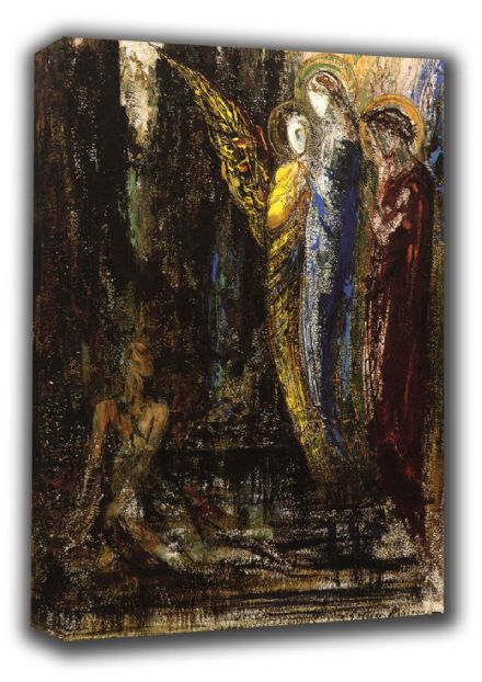 Moreau, Gustave: Job and the Angels. Fine Art Canvas. Sizes: A3/A2/A1 (00523)